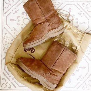 Lamo Brown Ankle Winter Boots